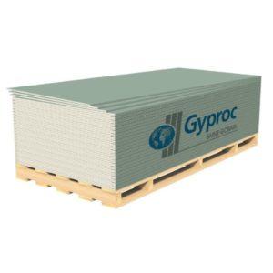 Гипсокартон ГКЛВ влагостойкий 12,5мм (2500*1200*12,5) Гипрок