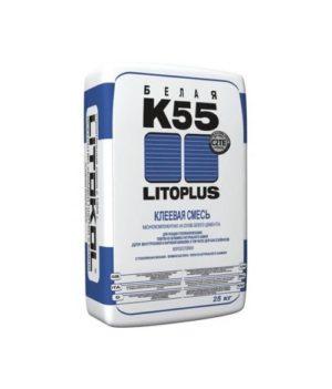 Клей для плитки Литокол LitoPlus K55 белый 25 кг