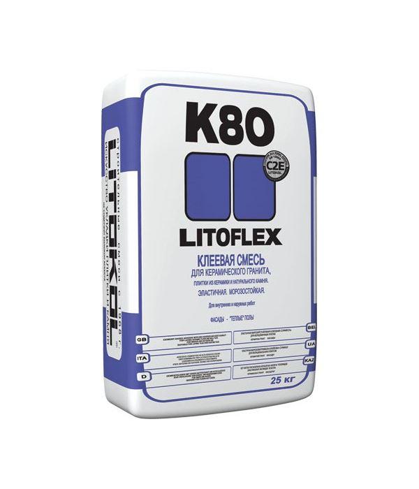 Клей для плитки Литокол LITOFLEX K80 25 кг