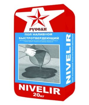 Наливной пол РУСЕАН НИВЕЛИР 20кг