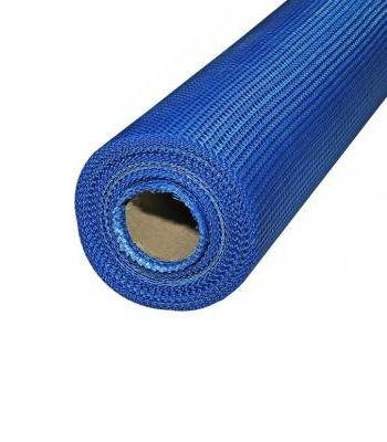 Сетка фасадная синяя ячейка 5*5 мм 160гр/м2