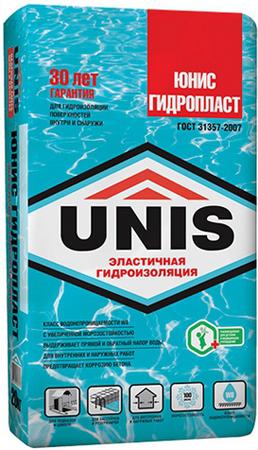 Гидроизоляция цементная Юнис Гидропласт 20 кг